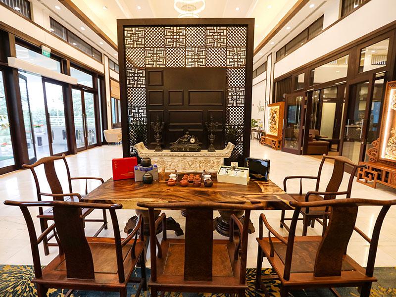 Không gian thưởng trà tại nhà hàng NCC – Trung tâm Hội nghị Quốc gia